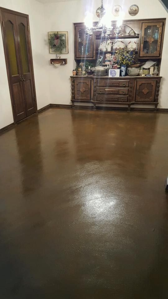 Remodel Concrete Floors In Your Home With Overlay And Acid Stain Easy To Maintain One Of A Kind Finish For Any Room The House