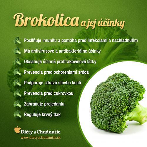 Brokolica a jej účinky na chudnutie a zdravie človeka