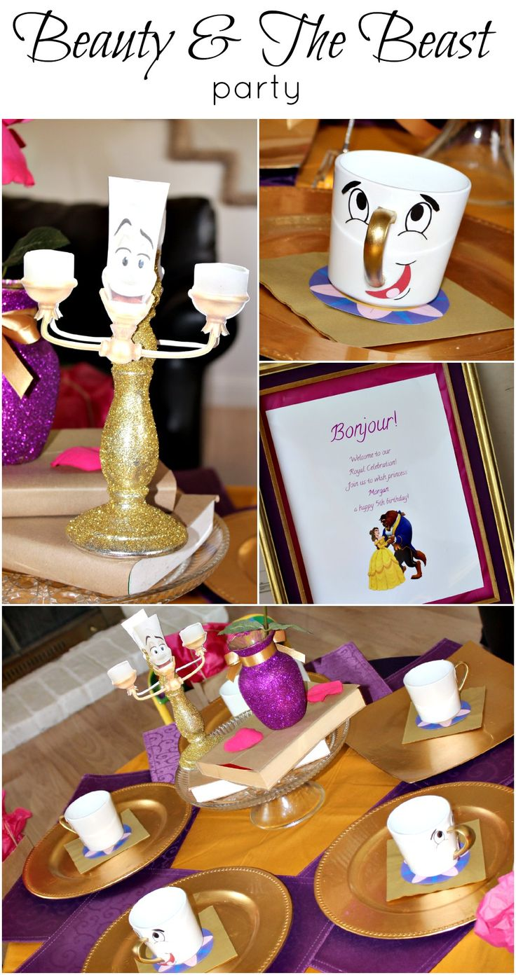 """Beauty & The Beast Party w/ the cutest """"Chip"""" mugs!"""