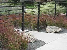 horizontal steel/iron fence - 1
