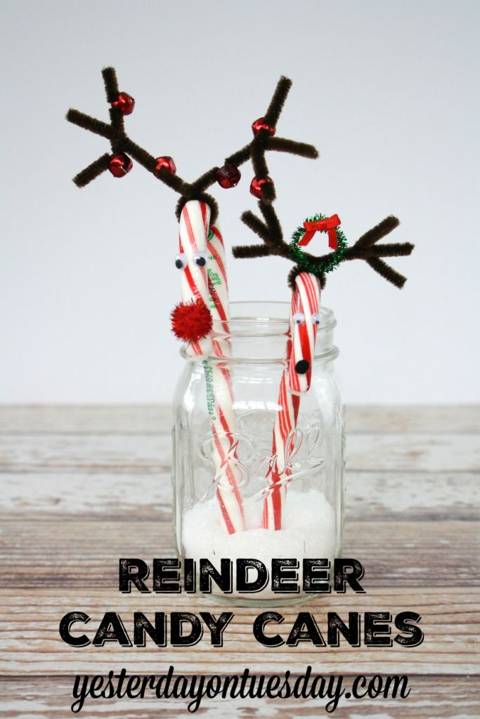 Reindeer Candy Canes, a fun Christmas craft for kids