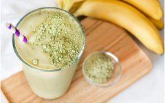 Vitamina Detox de Banana e Chá Verde Para Secar