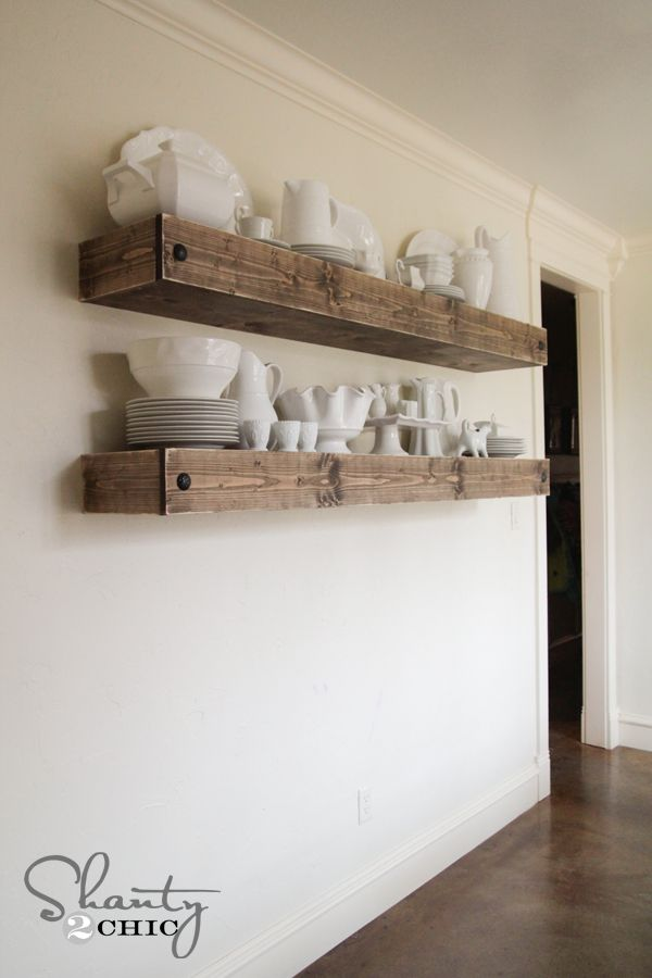DIY Floating Shelf Plans and tutorial by Shanty2Chic! - Best 25+ Reclaimed Wood Floating Shelves Ideas On Pinterest