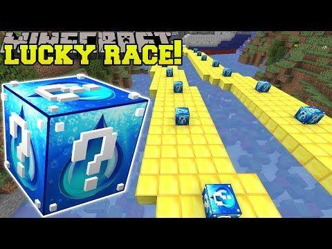 Minecraft: CRAZY WATER LUCKY BLOCK RACE - Lucky Block Mod