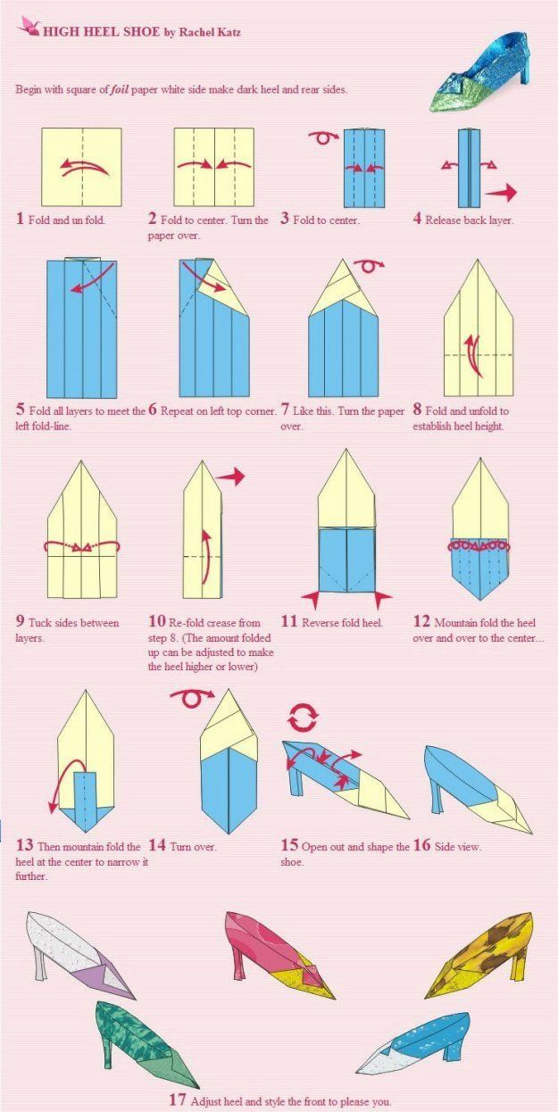 Origami shoes tutorial