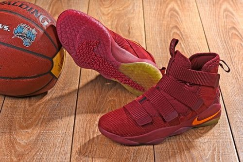 size 40 c97cf 53397 Cheap Nike LeBron Soldier 11 Cavs PE Wine Red with Gold For Sale -  Cheaplebronshoes