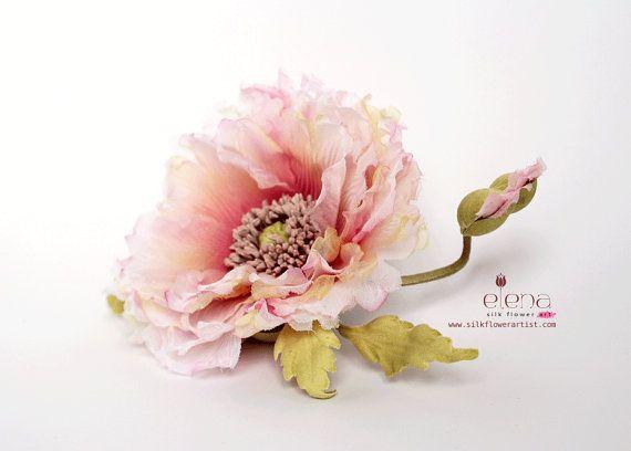 Video tutorial how to make SILK POPPY using japanese flower making tools