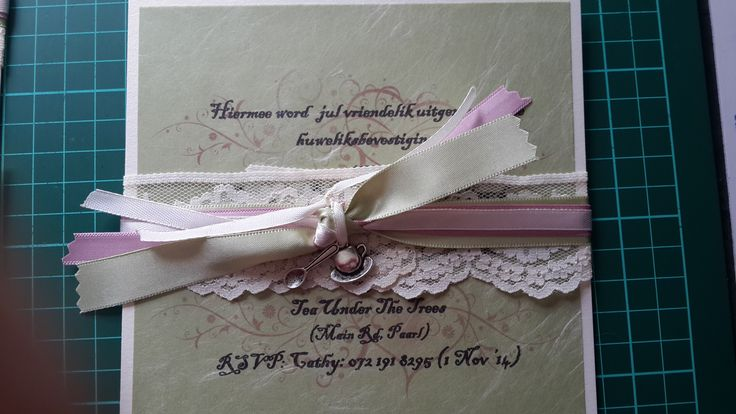 High Tea Wedding invitation