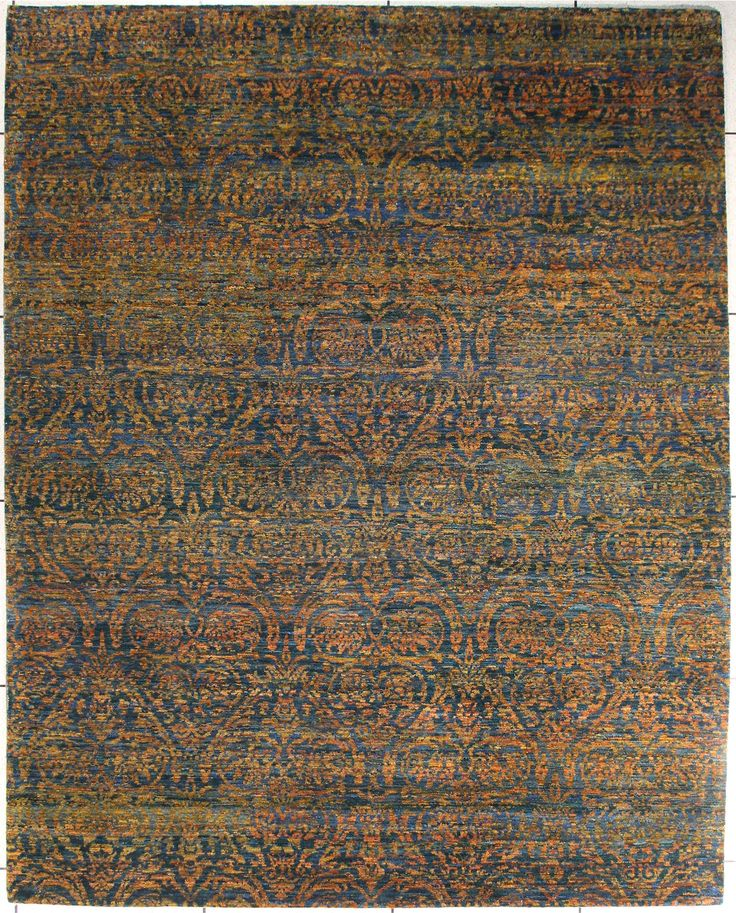Turquoisetwilight Modern Hand Knotted Area Rug From Rugnova The Place To Best Traditional