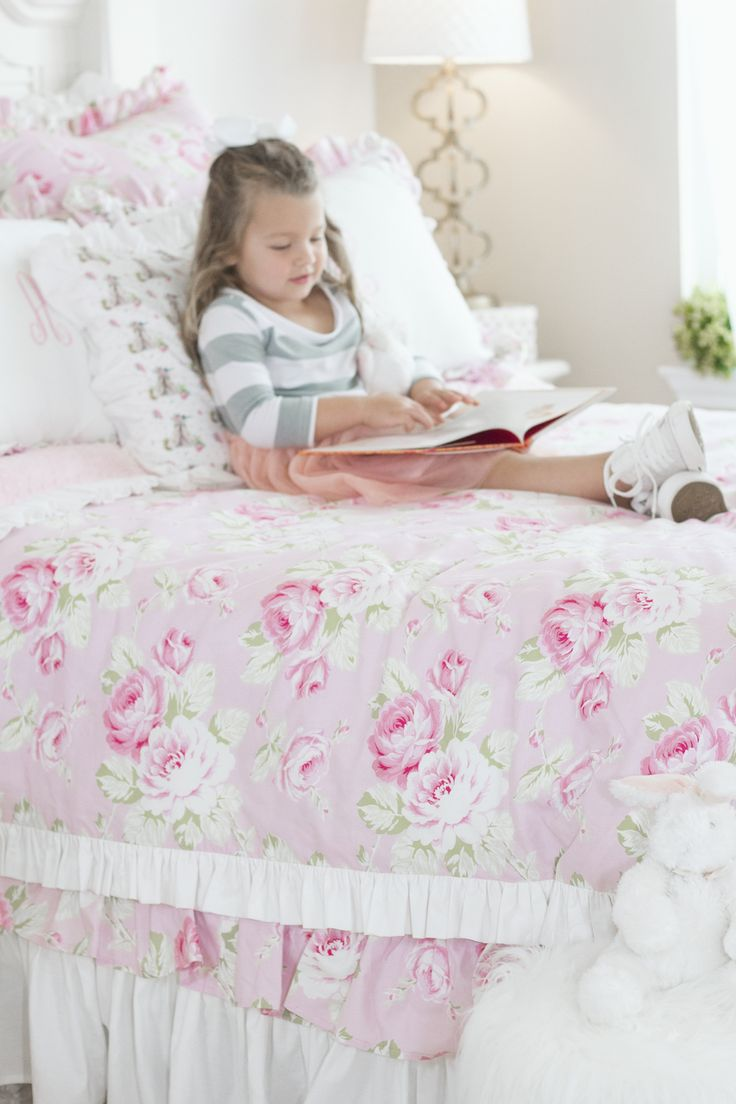 Ritzy Baby Designs, LLC - Annsley Full Bloom Roses and White Ruffled Bed Skirt, $225.00 (http://www.ritzybaby.com/annsley-full-bloom-roses-and-white-ruffled-bed-skirt/)