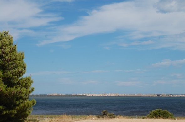Port Leucate from across the lake 'Etang de Leucate ou Des Salses'