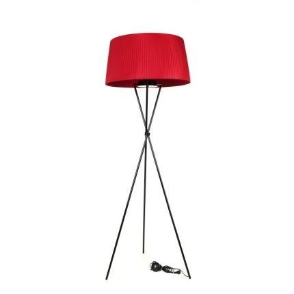 Stojací lampa Tripod, červená