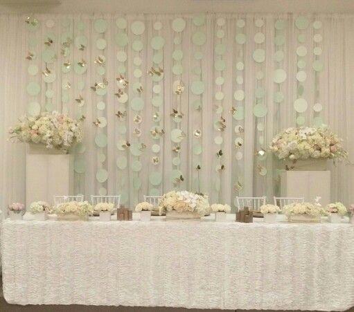 Ivory and mint backdrop, Olga v