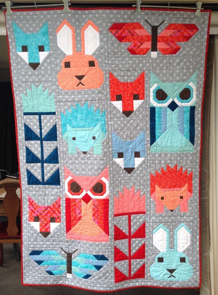 Elizabeth Hartman Fancy Forest quilt for Alfie