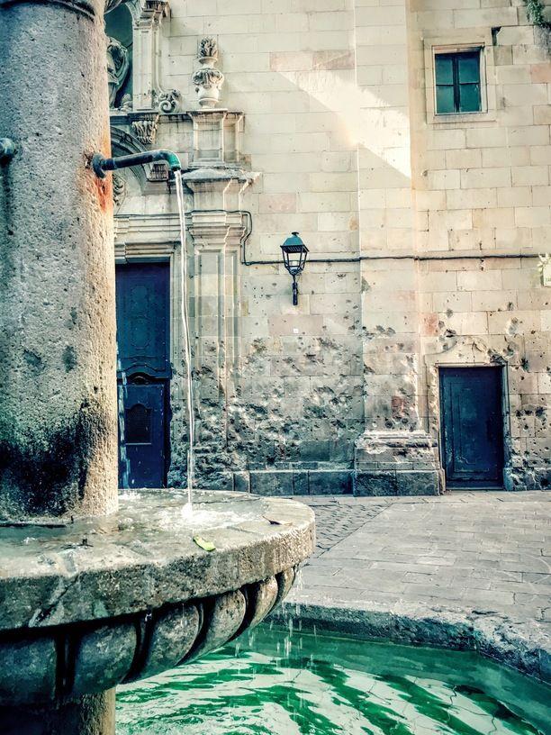 Church of San Felipe Neri, Barcelona, Spain — by Enzo Fullone. Inspiring little spot
