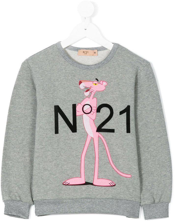 No21 Kids pink panther sweatshirt