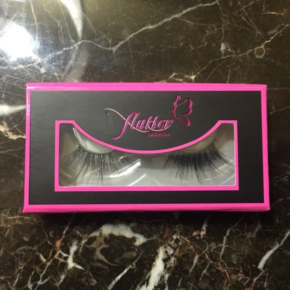 Flutter Lashes Roxy New in box in the style Roxy. 100% Authentic Mink Lashes. Flutter Lashes Makeup False Eyelashes