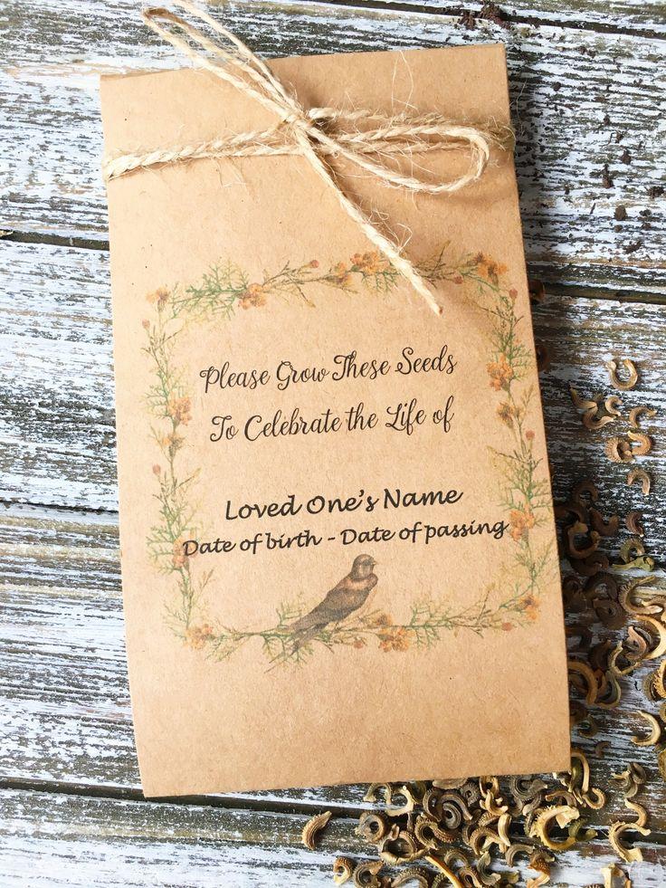 50 personalized life celebration flower seeds flower