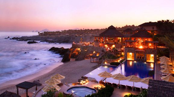 The Esperanza Resort - Cabo San Lucas, Mexico. Stayed: Fall 2011.  A very quiet and secluded resort with the most amazing beds.  We slept for almost 12 hours every day because of the beds!  Service and rooms were also top-notch.