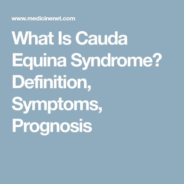 What Is Cauda Equina Syndrome? Definition, Symptoms, Prognosis