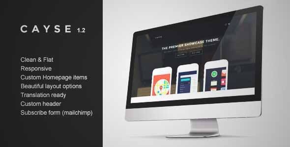 Download and review of Cayse – Clean Product Landing Page, one of the best Themeforest Technology themes