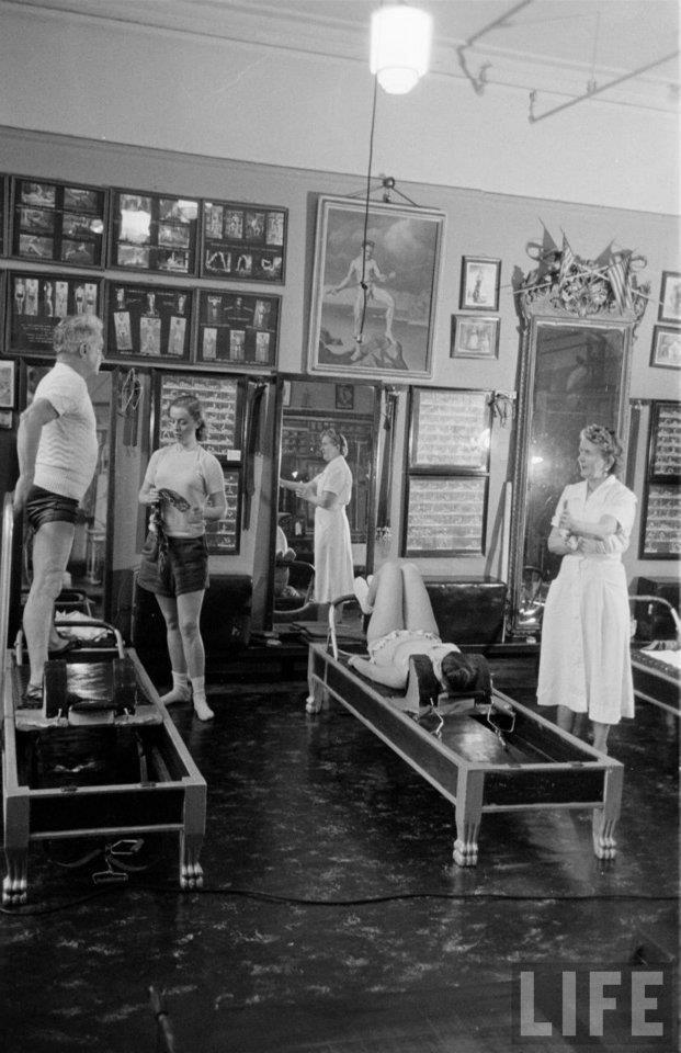 Vintage Joseph Pilates with beautiful view of the original studio / Vintage Movement <3