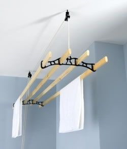January 23 2013 Green Idea #23 Save energy with line dry towels Kitchen Maid Ceiling Mounted Clothes Airer