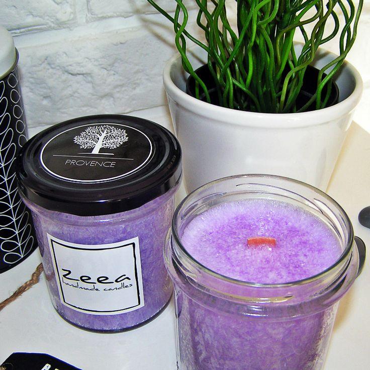 Naturalna świeca zapachowa zeea z kolekcji loff... PROVENCE o zniewalającym aromacie lawendy...