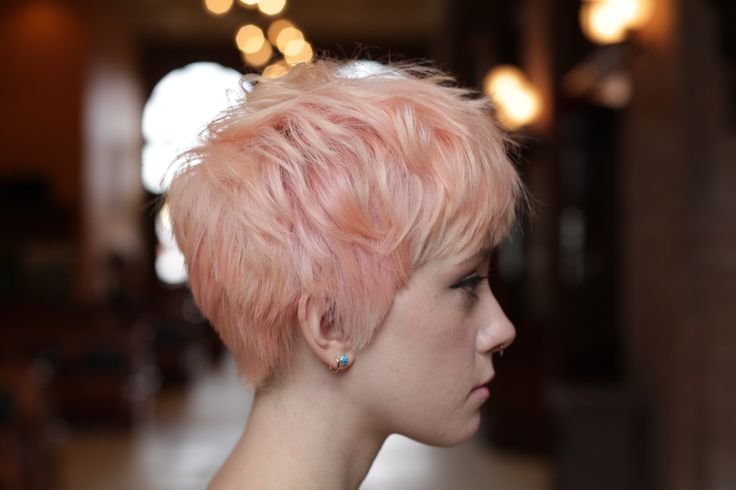 Pastel pink pixie by Jess.