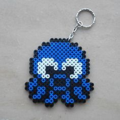 Porte clé pieuvre/octopus pixel art / perles à repasser