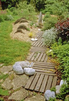 timber pallet garden path - Google Search                                                                                                                                                                                 More