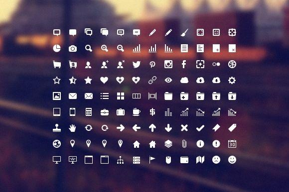 Developer Icon Set by IconDeposit on Creative Market