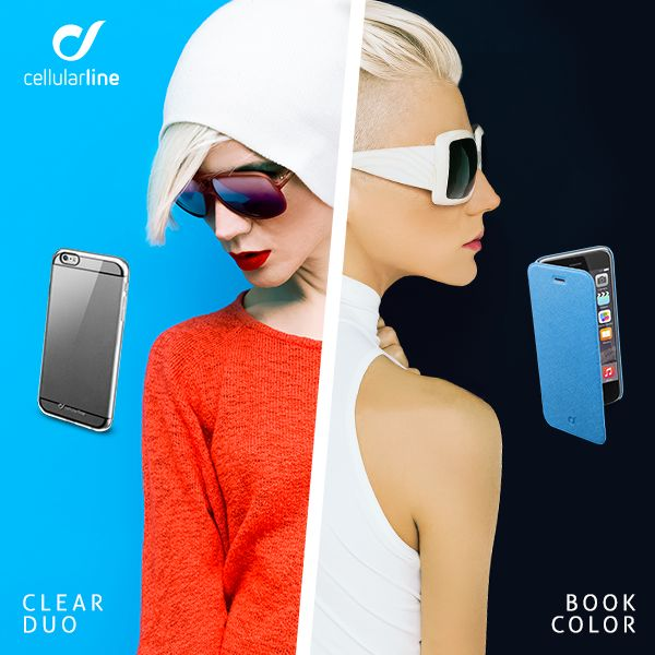 Pratica ed essenziale come CLEAR DUO o smart e raffinata come BOOK COLOR? Scegli la #cover che si adatta di più al tuo mood e al tuo #iPhone6! #cellularline #cases #smartphone #trendy #coool #fashion