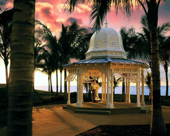 Scenic destination wedding gazebo at The Grand Lucayan, Bahamas.They have great wedding packages too!