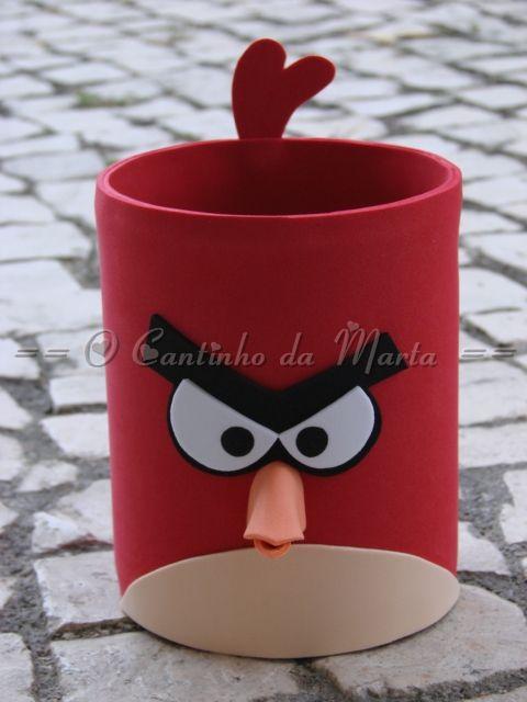 O Cantinho da Marta: Porta Lápis / Marcadores Angry Birds - E.V.A.