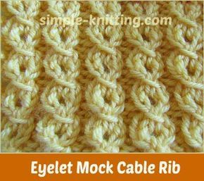 Tiny Bobbles Stitch Pattern Skill Intermediate Multiple Of Sts Row