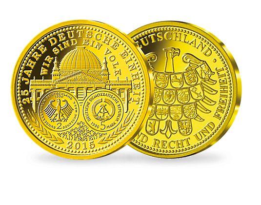 Goldausgabe 2015 25 Jahre Deutsche Einheit Mdm Deutsche Münze