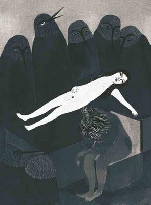 La muerte de la virgen.    Pensamientos Estériles.  Poemario de Luna Miguel.  Cangrejo Pistolero Ediciones.
