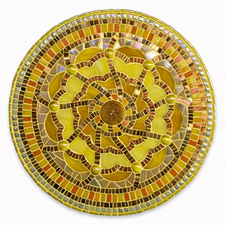 mandala mosaic solar plexus chakra
