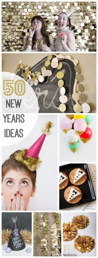 FIFTY New Years Ideas! http://www.classyclutter.net/2013/12/50-amazing-new-years-ideas.html