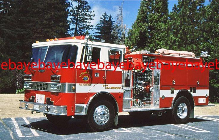 Fire Apparatus Slide, Engine 91,San Bernardino Co FD / CA, 1990 Dash 4x4
