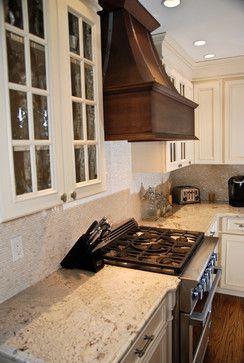 Kitchen Renovation - contemporary - Kitchen using cream mother of pearl brick tiles. Found at https://www.subwaytileoutlet.com/