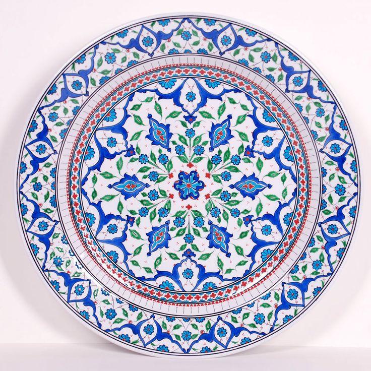 Turkish (İznik) çini plate mandala