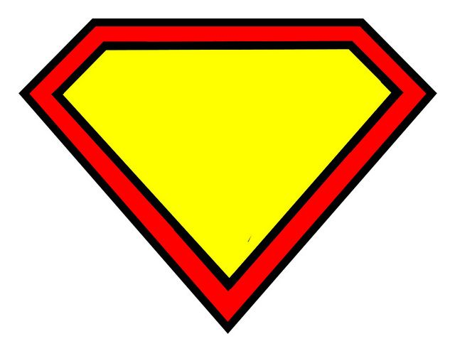 superman logo blank by Pinafores & Pinwheels, via Flickr
