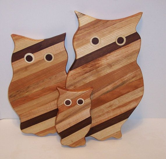 {owl cutting boards} by Tom Roche