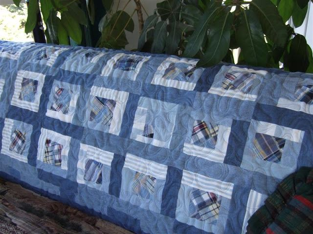 """Crafty Sewing & Quilting: Hodgepodge Patchwork Tuesday --- """"Up Cycle"""" Blue Patchwork Shorts into a Quilt!"""