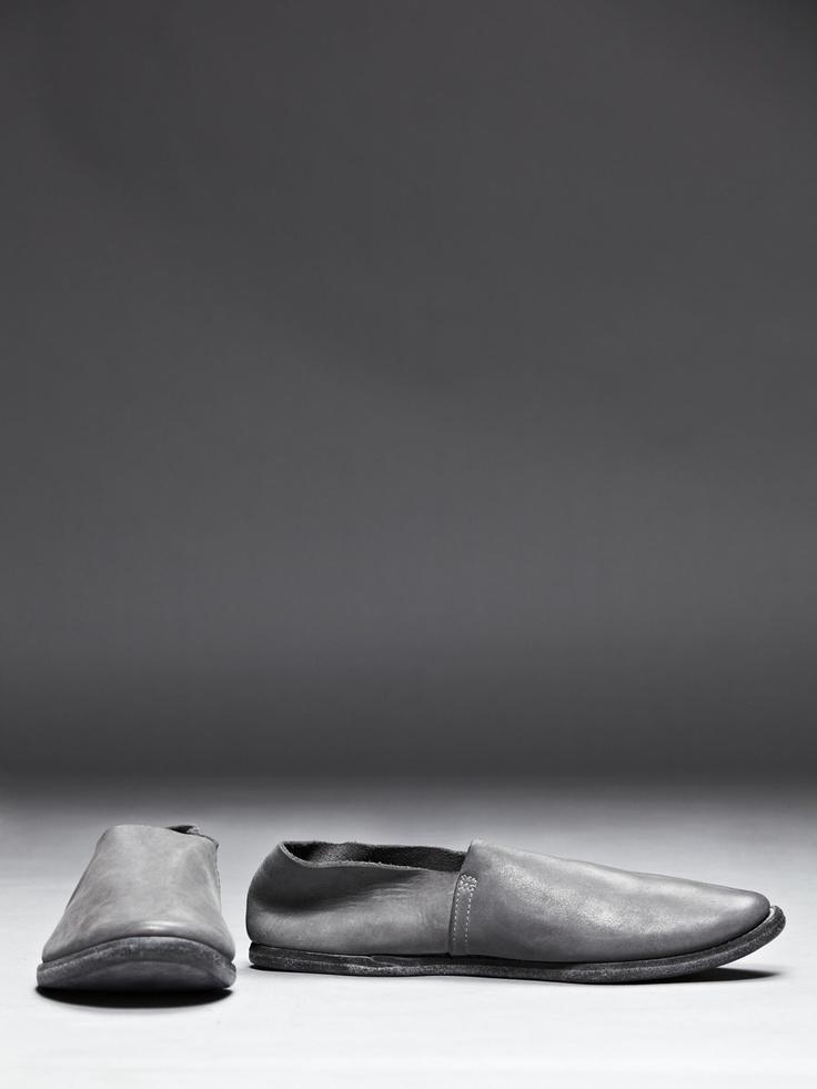 Guidi Cordovan Leather Slipper, Grey
