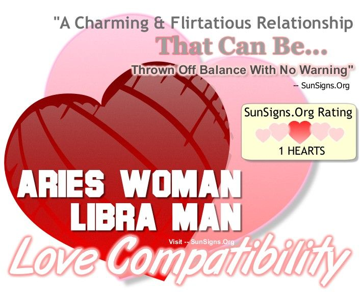 Aries Woman And Libra Man - A Charming Yet Difficult Relationship - SunSigns.Org  Thrown off balance w/ no warning - this is true.