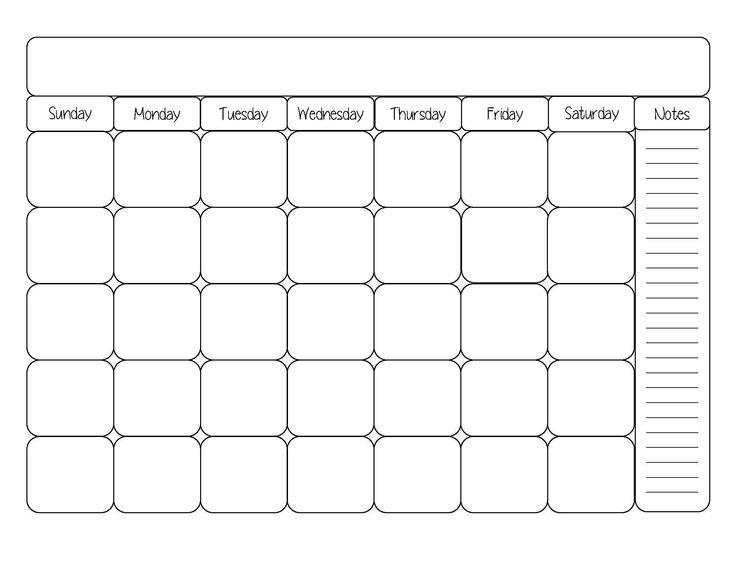 Cute Printable Blank Calendar Weekly Schedule With Images