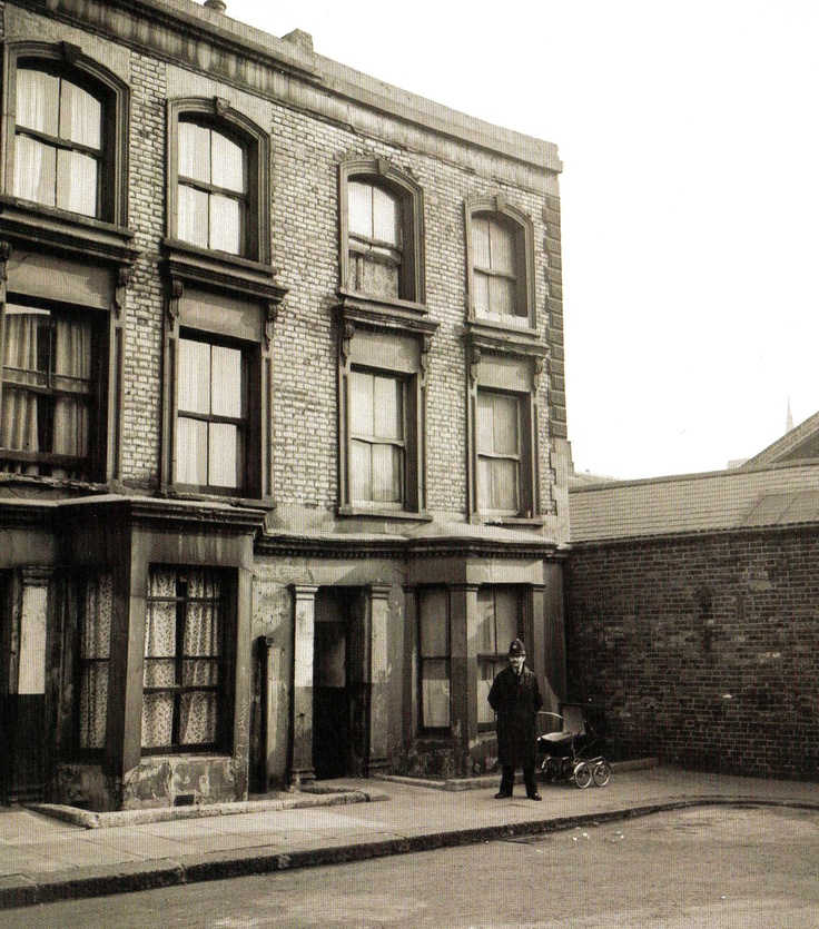 The house at 10 Rillington Place in Notting Hill, London, where a series of murders were commited by John Christy in the early 1950s. Timothy evans who was wrongly hanged for one of Christie's murders, received a posthumous pardon in October 1966 - 12 October 1966